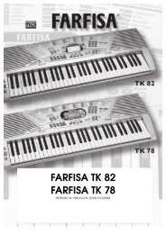FARFISA TK 82 FARFISA TK 78 - FX-Music Group