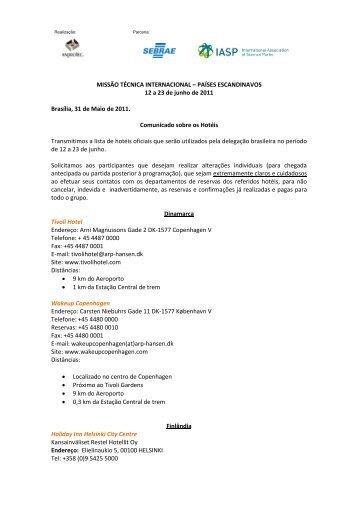 MISSÃO TÉCNICA INTERNACIONAL – PAÍSES ... - Anprotec
