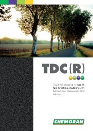 TDC (R) is designed for use in fast-breaking emulsions ... - Chemoran