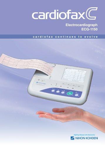 ECG-1150K cardiofax C Electrocardiograph - Nihon Kohden