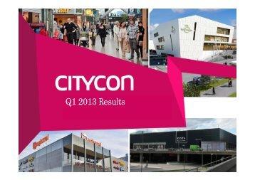 Q1 2013 Results - Citycon