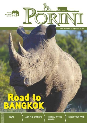Porini Issue No.10 March-April 2013 - Kenya Wildlife Service