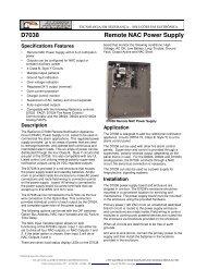 D7038 Remote NAC Power Supply - Alarmes Tucano