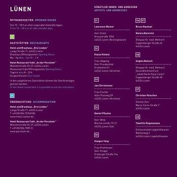 LÜNEN - Biennale für internationale Lichtkunst