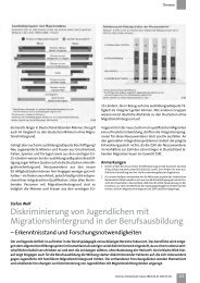 Diskriminierung von Jugendlichen mit Migrationshintergrund in der ...