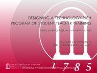 Designing a technology-rich program of student teacher training
