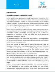 Presseinformation Mit xplace Terminals wird ... - xplace GmbH