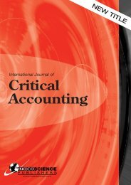 Critical Accounting