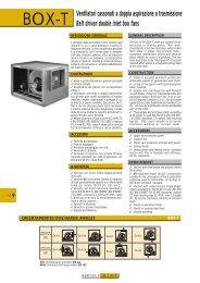 BOX-T Ventilatori cassonati a doppia aspirazione a trasmissione ...