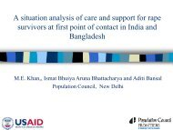 A situation analysis of care and support for rape survivors at ...
