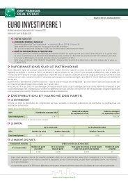 Bulletin trimestriel - Euro Investipierre 1 - BNP Paribas REIM