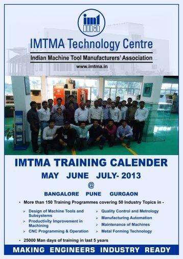 IMTMA Training Calendar - Indian Machine Tool Manufacturers ...