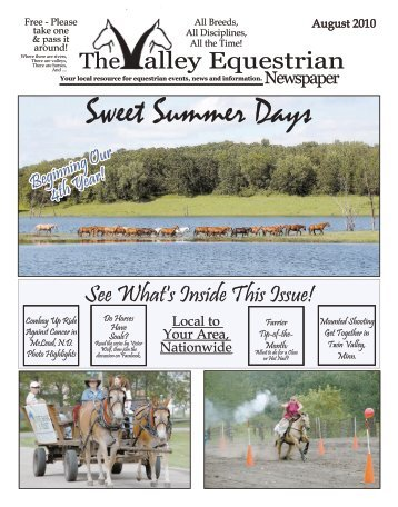 August 2010 - The Valley Equestrian Newspaper