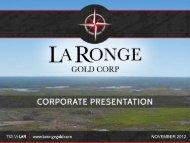 Drill hole Results PR12 - La Ronge Gold Corp