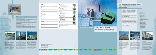 AUTOMATIONWORX for Remote Systems (ReSy) - Phoenix Contact