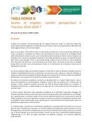 TABLE RONDE B - Europe en France, le portail des Fonds européens