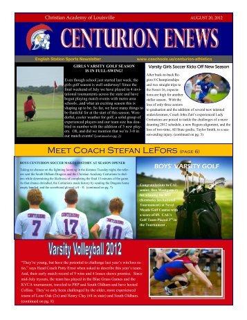 eNews 08/20/2012 - Christian Academy School System
