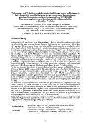 Vorkommen und Verhalten von Lebensmittelinfektionserregern in ...