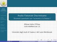 Analisi Fattoriale Discriminante - Strumenti ... - Docente.unicas.it