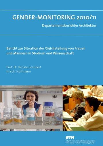 GENDER-MONITORING 2010/11 Departementsberichte ... - Equal!