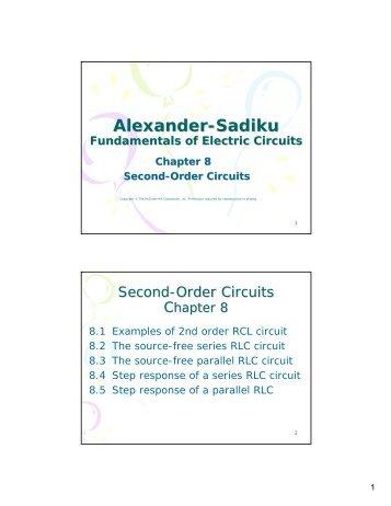 Alexander-Sadiku Fundamentals of Electric Circuits Chapter 8 ...