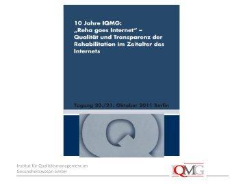 10.11.2011 - IQMG Institut für Qualitätsmanagement im ...