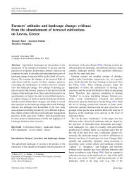 Farmers' attitudes and landscape change: evidence from the ...