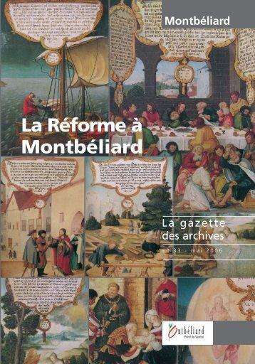 Gazette n°33 - Montbéliard