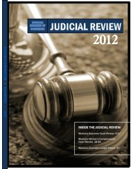 INSIDE THE JUDICIAL REVIEW: - Montana Chamber of Commerce