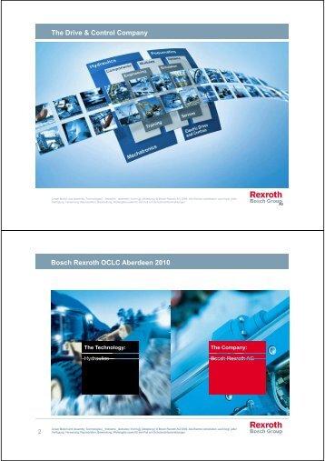 The Drive & Control Company Bosch Rexroth OCLC Aberdeen 2010