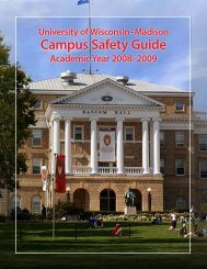 University of Wisconsin–Madison | Campus Safety Guide 2008–09