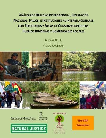 análisis de derecho internacional, legislación ... - Natural Justice