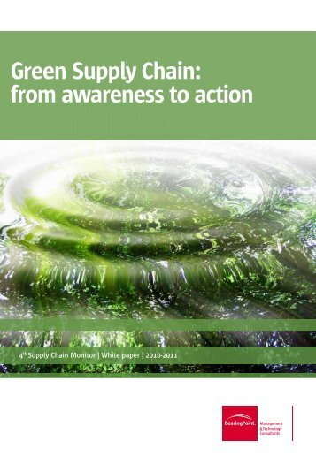 Green Supply Chain: from awareness to action - BearingPoint ToolBox