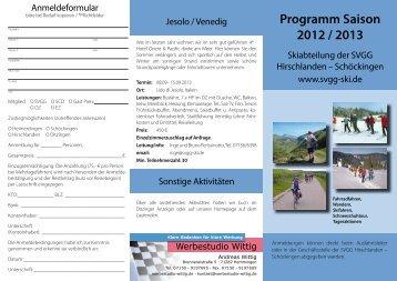 Programm Saison 2012 / 2013 - svgg-ski.de