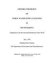 criteria for design of public water supply facilities in south dakota