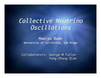 Collective Neutrino Oscillations - panic05