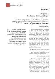 e-migrinter n°3 2009 - Maison des Sciences de l'Homme et de la ...