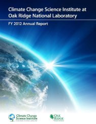 CCSI FY12 Annual Report - Climate Change Science Institute - Oak ...