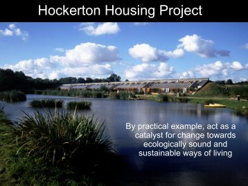 Hockerton Housing Project - What does zero carbon mean in practice?