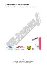 Kundenstimmen zu unseren Produkten - KW-Systems