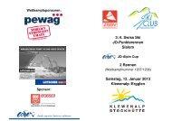 3./4. Swiss Ski JO-Punkterennen Slalom 2 Rennen Samstag, 12 ...