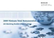 2009 Vietnam Total Remuneration Survey - iMercer.com