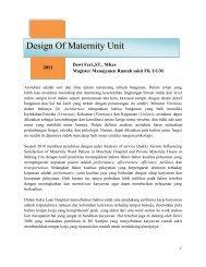 Design Of Maternity Unit - Manajemen Rumah Sakit PKMK UGM