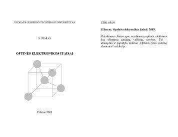 S.Štaras. Optinio ryšio sistemų elementai. V. - VGTU Elektronikos ...