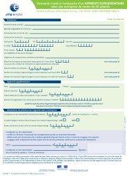 Demande d'aide à l'embauche d'un APPRENTI SUPPLÉMENTAIRE ...