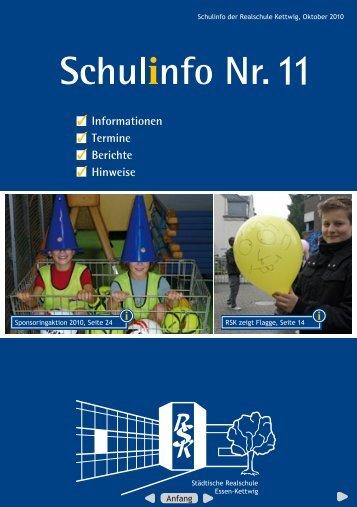 Schulinfo Nr. 11 - Realschule Kettwig - Essen