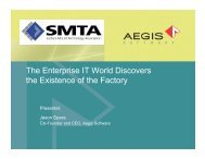 The Enterprise IT World Discovers the Existence of the Factory - SMTA