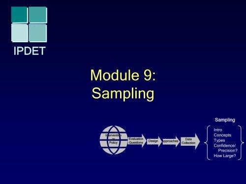 Module 9: Sampling