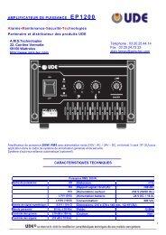 amplificateur de puissance EP1200 - AMS Technologies