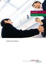 Code of Conduct - Nationale Suisse Group
